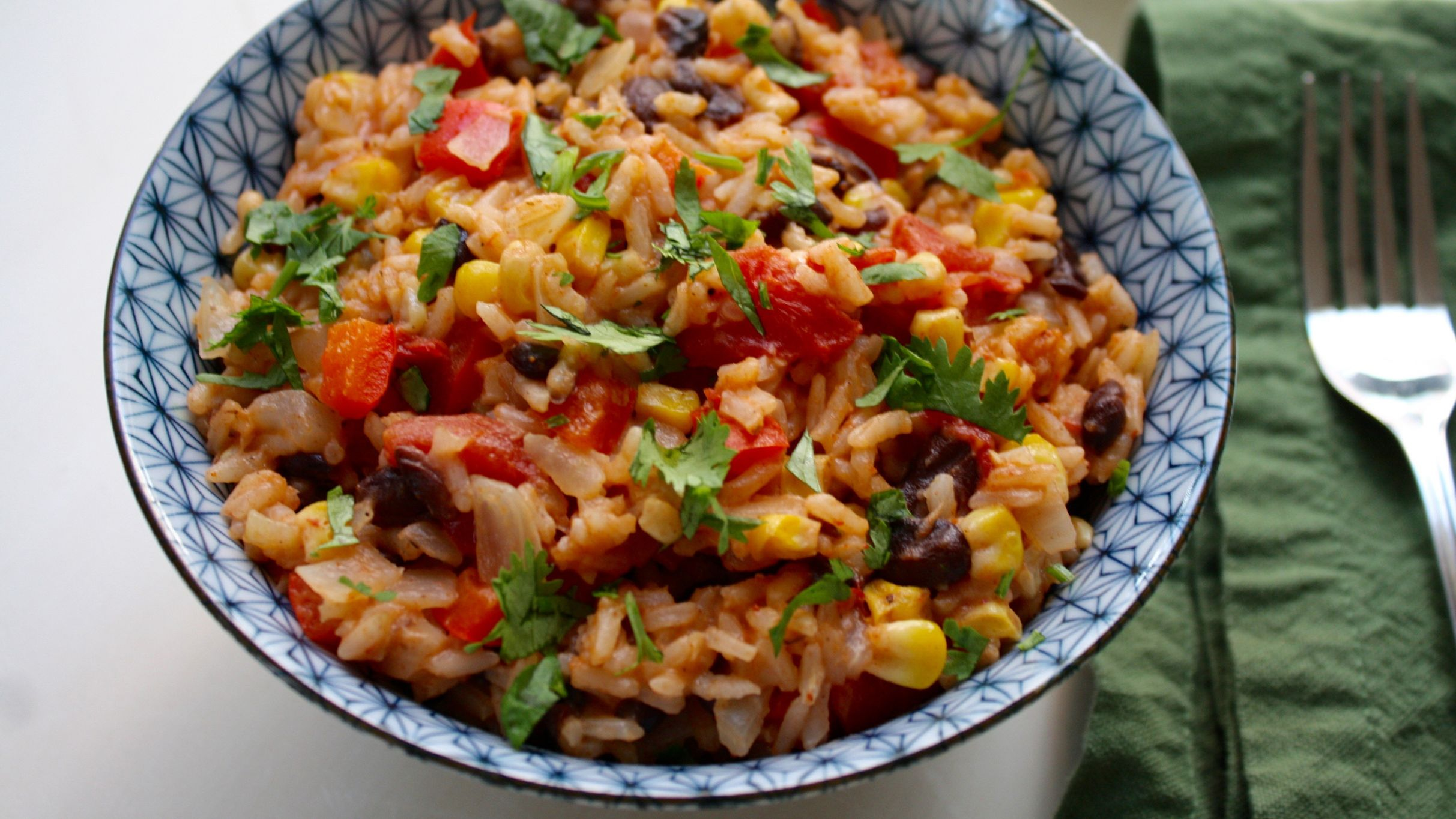 One-Pot Mexican Rice with Black Beans and Corn - Recipes Rice Beans