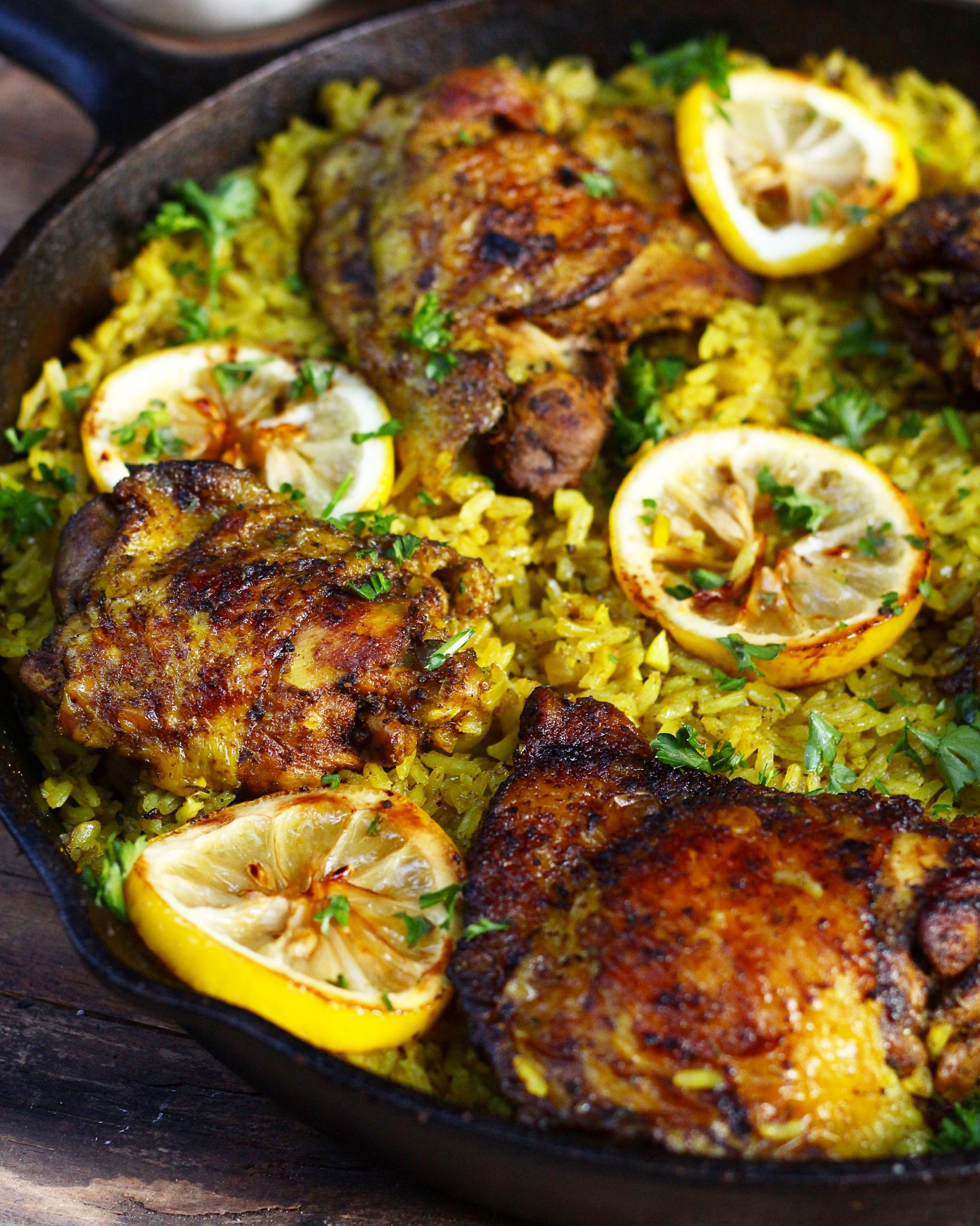 One Pot Middle Eastern Chicken and Rice - Rice Recipes Middle Eastern