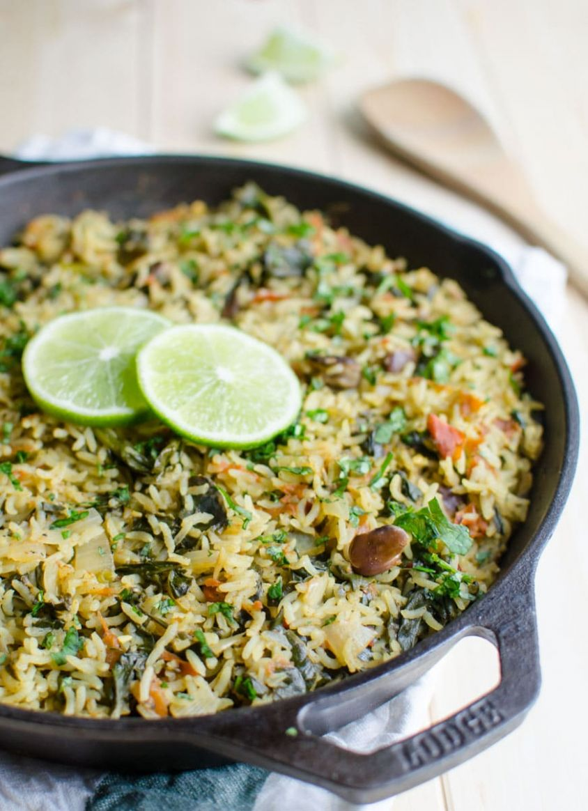 One Pot Spinach Rice - Healthy Recipes Rice
