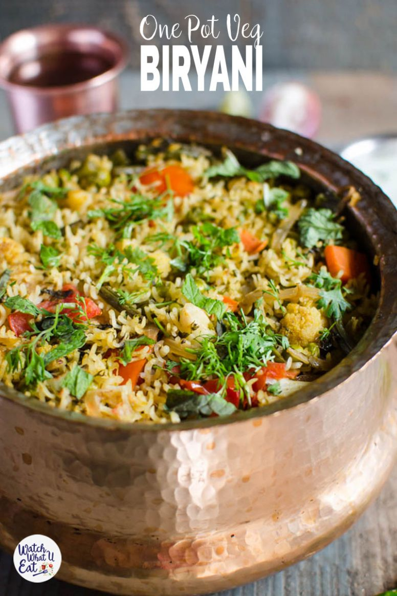 One Pot Vegetable Biryani - Recipe Vegetarian One Pot