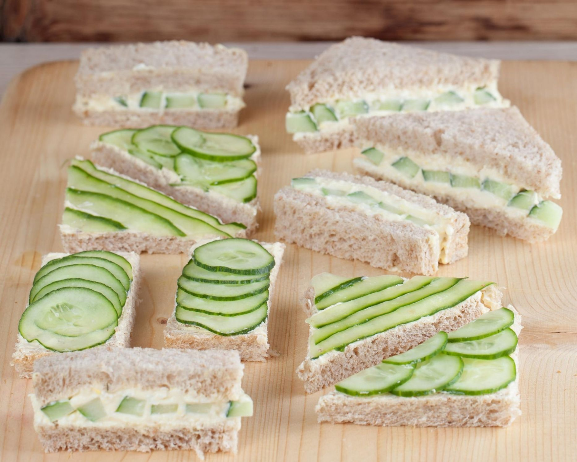 Open-Faced Cucumber Sandwiches - Sandwich Recipes Cucumber
