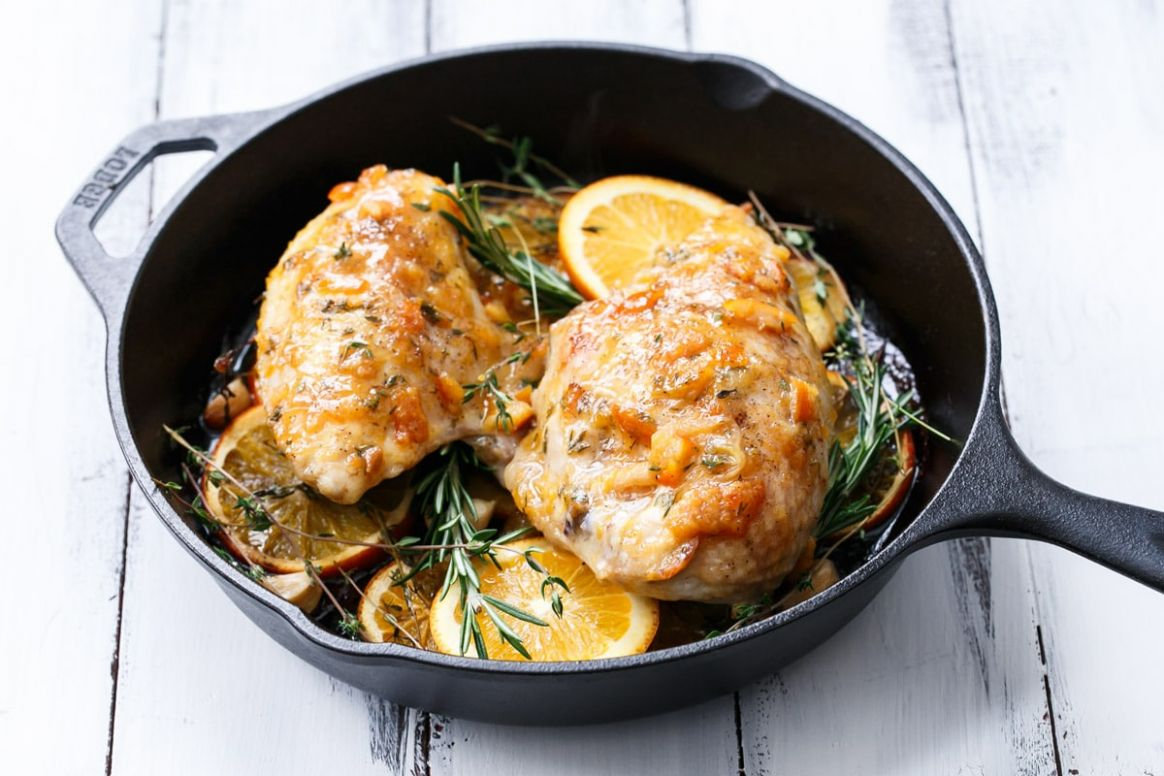 Orange Marmalade Skillet Roasted Chicken Breasts - Recipe Chicken Breast Orange Marmalade