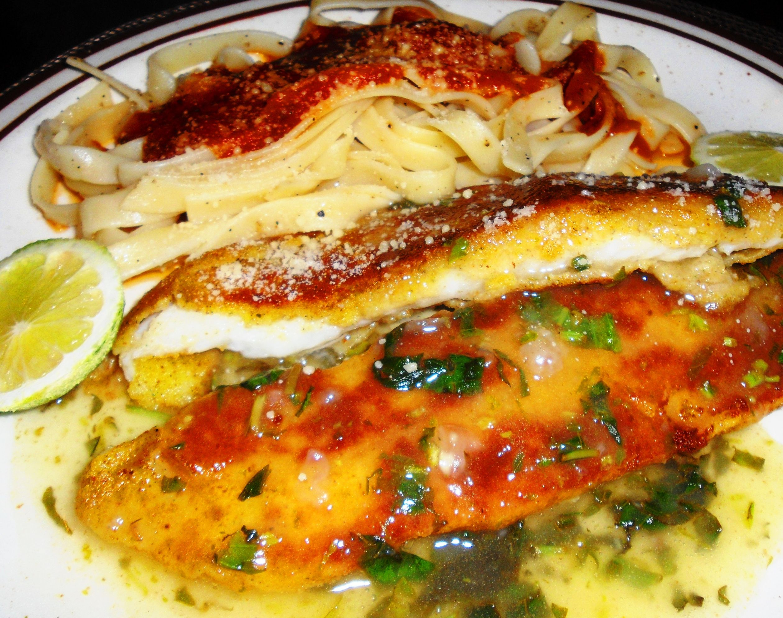 Orange Roughy with Lemon Sauce - Recipe Fish Orange