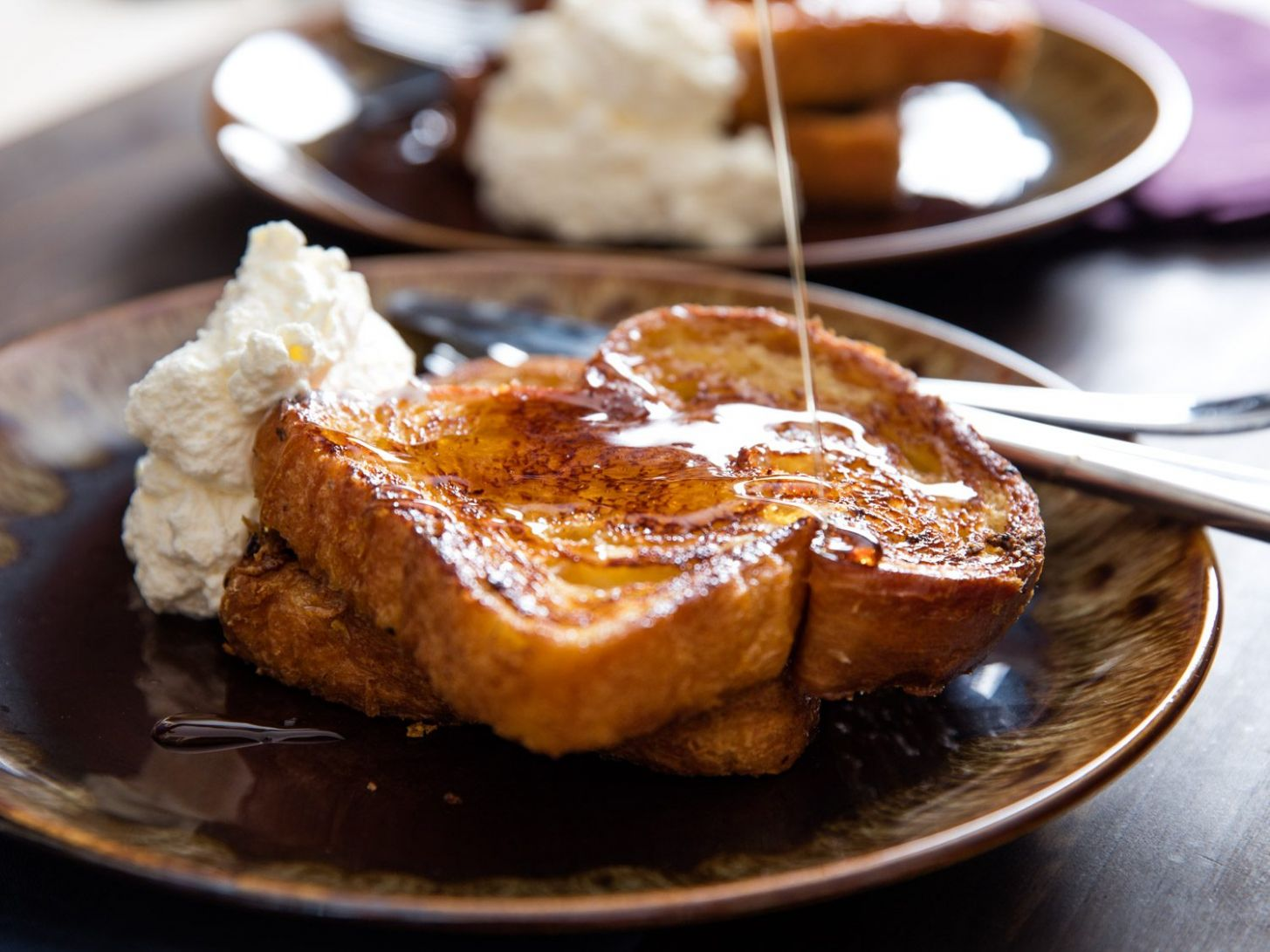 Orange-Rum Challah French Toast With Whipped Cream Recipe - Breakfast Recipes Quick French Toast