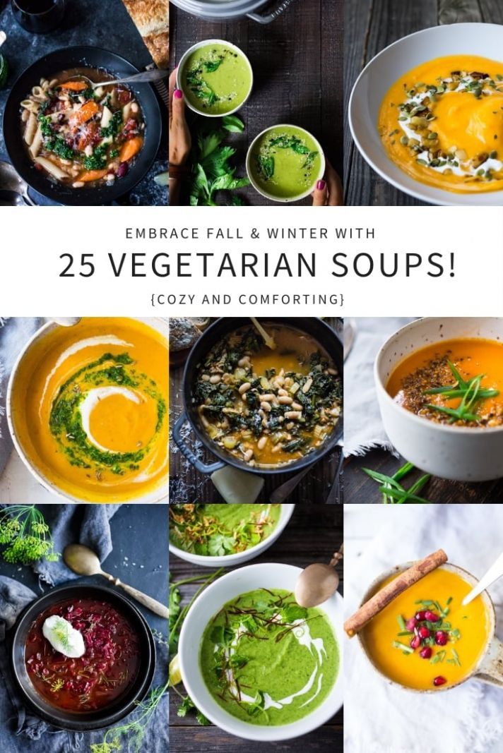Our 9 Most Popular VEGETARIAN Soups!