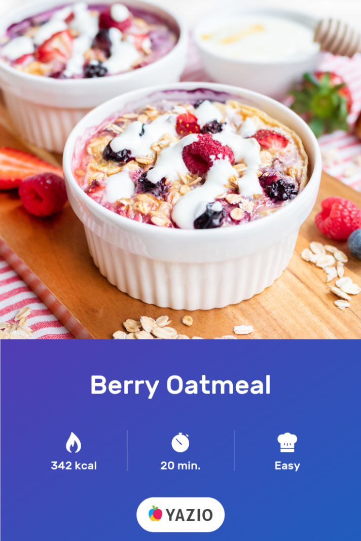 Our Berry Oatmeal is a delicious and warm breakfast for gloomy ..