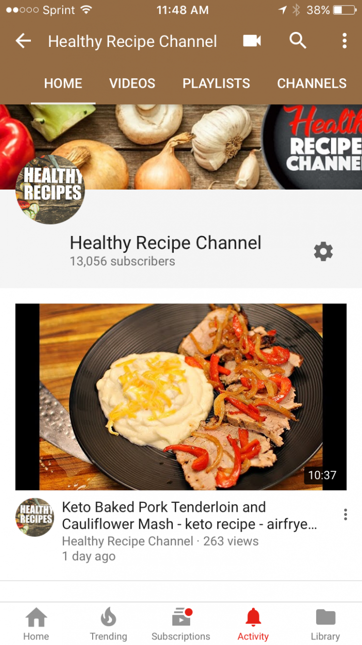 Our Youtube Channel just hit 10k Subscribers and 10 recipes ..