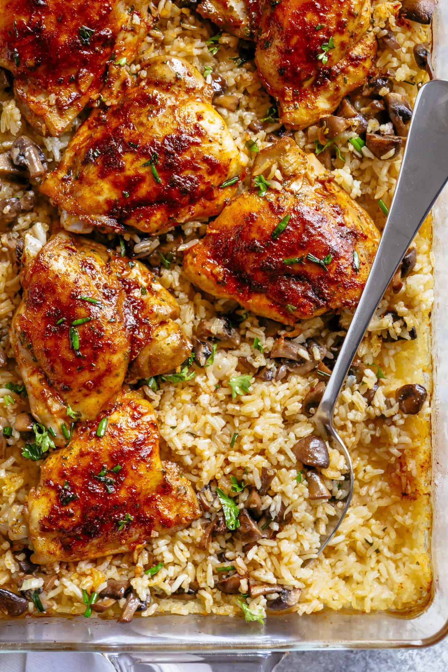 Oven Baked Chicken and Rice - Recipes Chicken Dishes
