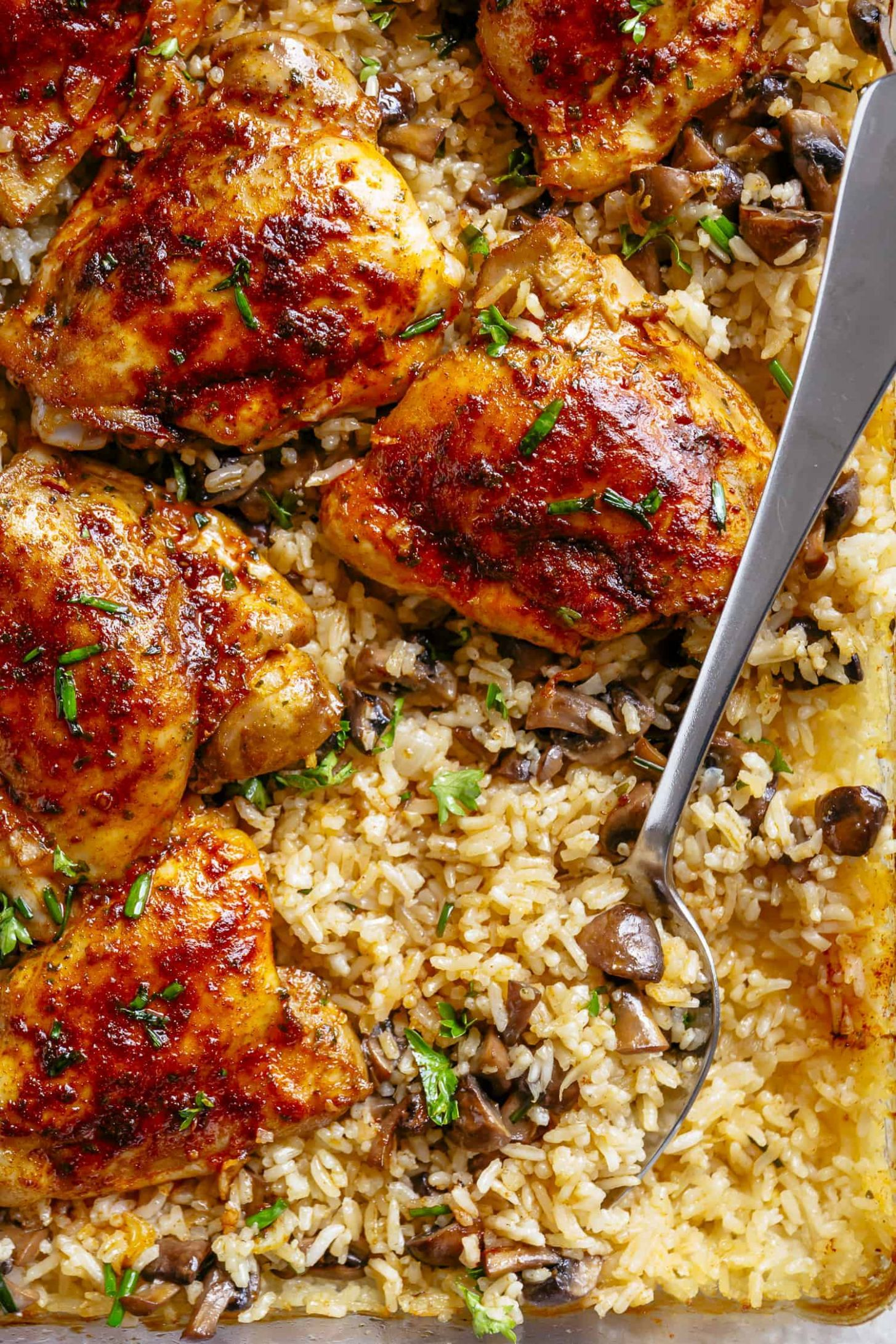 Oven Baked Chicken and Rice - Rice Recipes For Chicken
