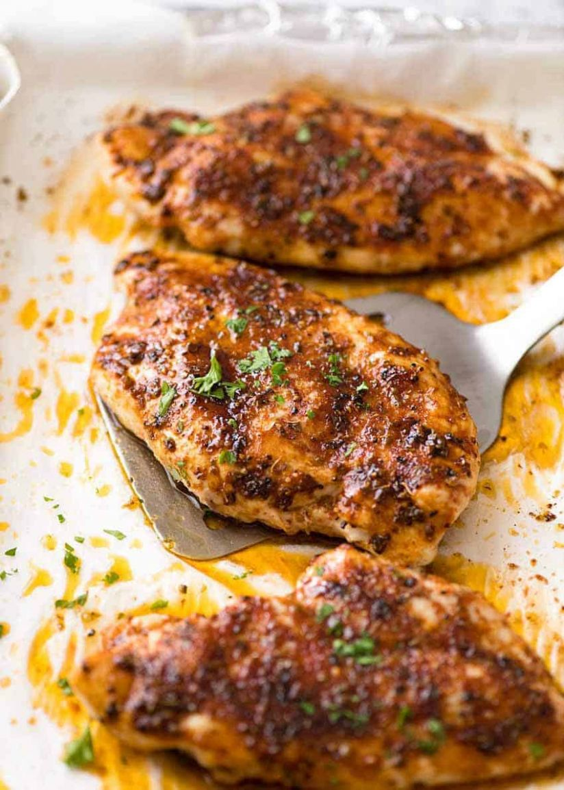 Oven Baked Chicken Breast - Simple Recipes With Chicken Breast