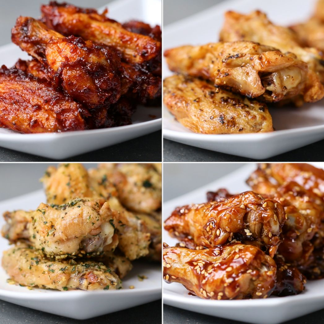 Oven-Baked Chicken Wings 12 Ways | Recipes - Recipes Chicken Wings In Oven