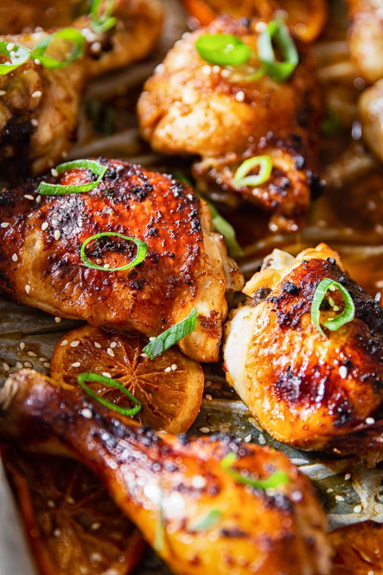 Oven Baked Honey Soy Chicken Thighs and Drumsticks - Recipes Chicken Legs And Thighs