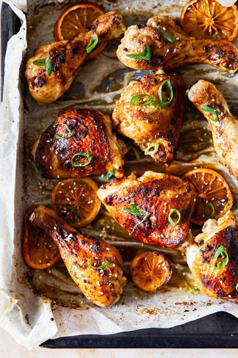 Oven Baked Honey Soy Chicken Thighs and Drumsticks - Vikalinka