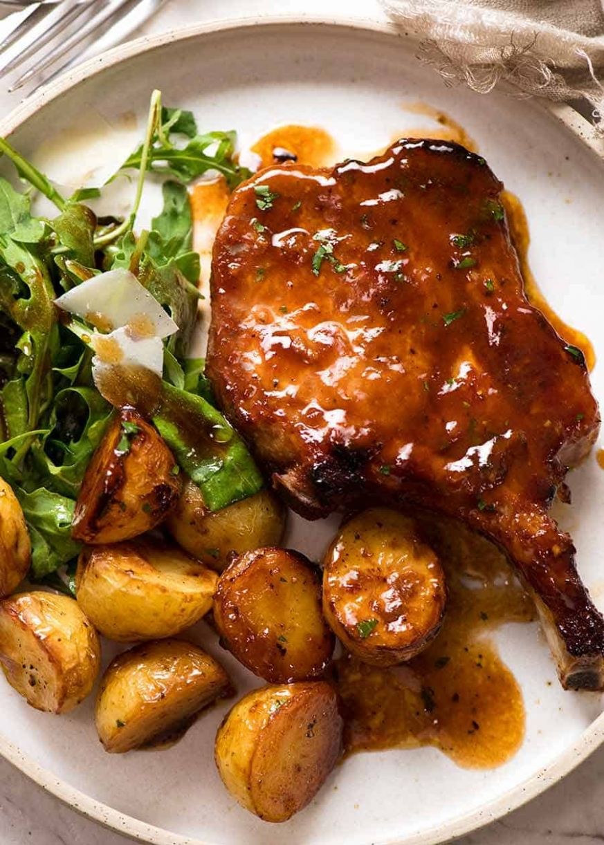 Oven Baked Pork Chops with Potatoes - Pork Recipes Uk