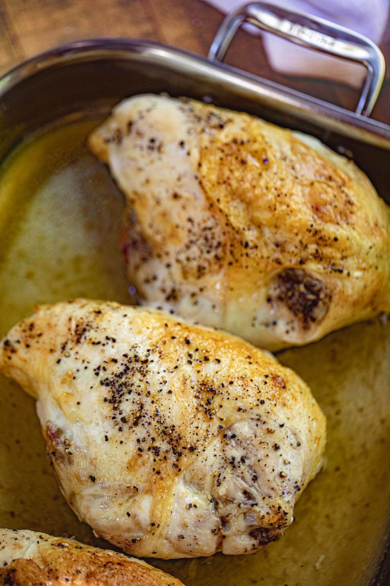 Oven Baked Split Chicken Breasts (Bone-In) - Dinner, then Dessert - Recipe Bone-In Chicken Breast Roasted