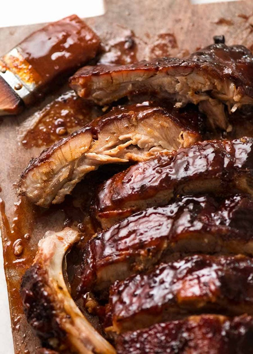 Oven Pork Ribs with Barbecue Sauce - Recipes Pork Ribs In Oven