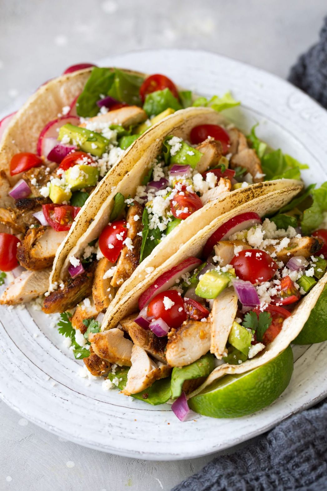 Oven Roasted Chicken Tacos - Recipes Chicken Tacos