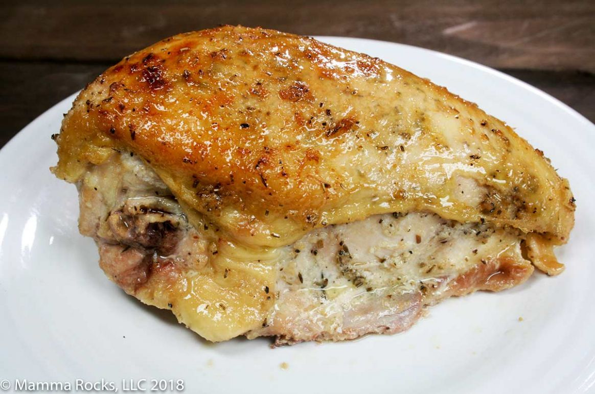 Oven Roasted Rosemary and Thyme Chicken Breast on the Bone Recipe - Recipe Bone-In Chicken Breast Roasted