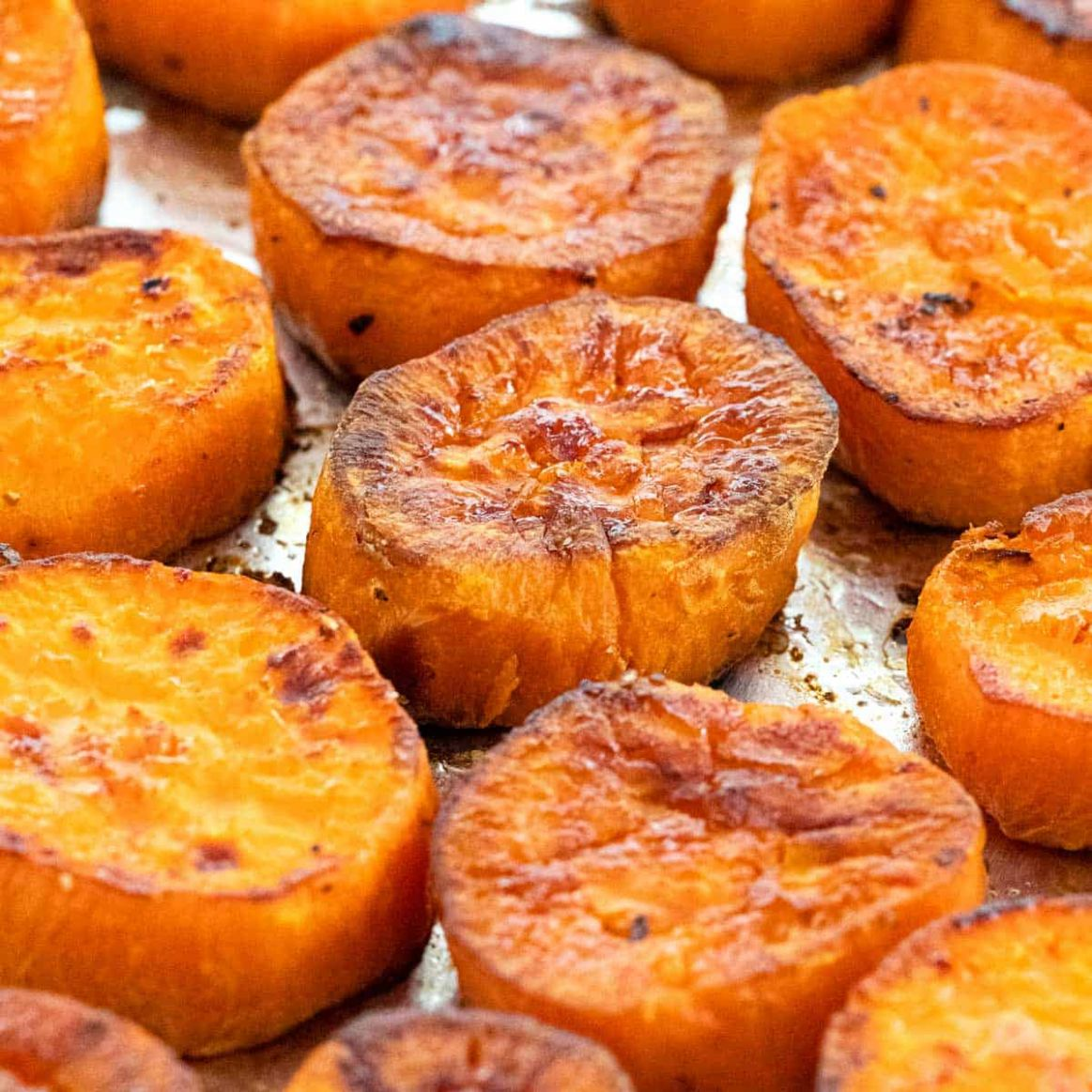 Oven Roasted Sweet Potatoes - Simple Yam Recipes Baked