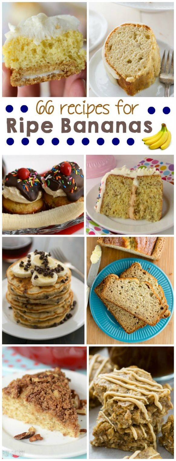 Over 12 recipes using overripe bananas - Crazy for Crust