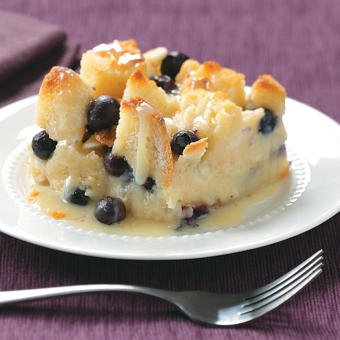 Over-the-Top Blueberry Bread Pudding - Recipes Dessert Top