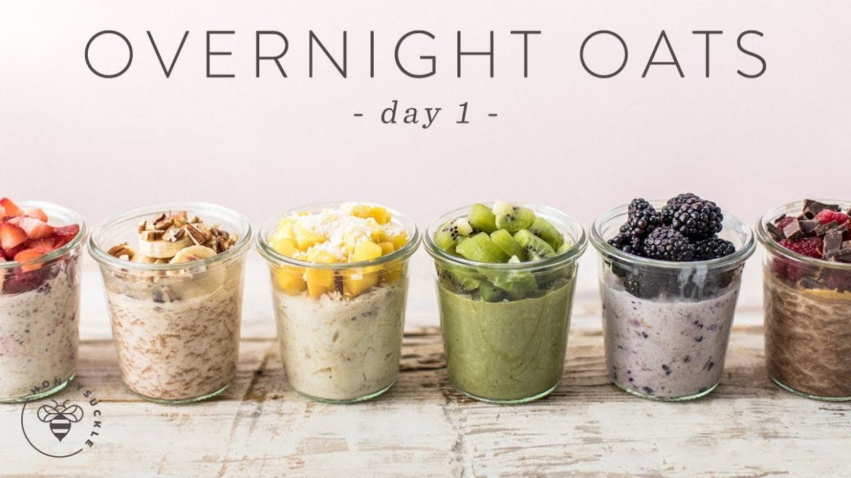 OVERNIGHT OATS 1111 Ways | Easy Healthy RAINBOW Breakfasts ? DAY 11 |  HONEYSUCKLE