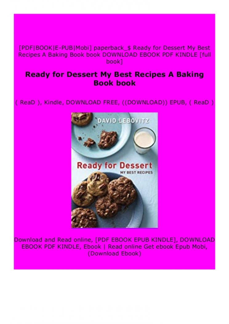 P.D.F))^^@@ Ready for Dessert My Best Recipes A Baking Book book…