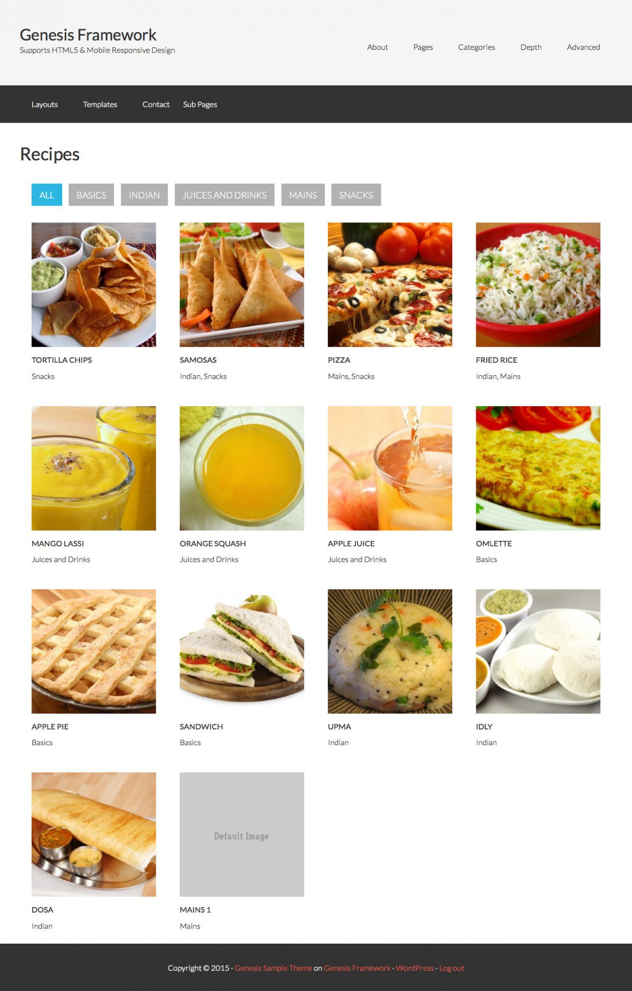 Page Template for displaying Posts Grid in Genesis Filterable by ...