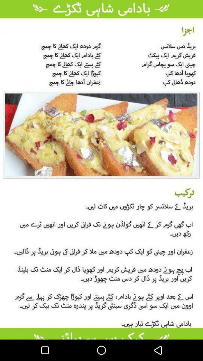 Pakistani Dessert Recipes In Urdu - Sweet Dishes for Android - APK ..