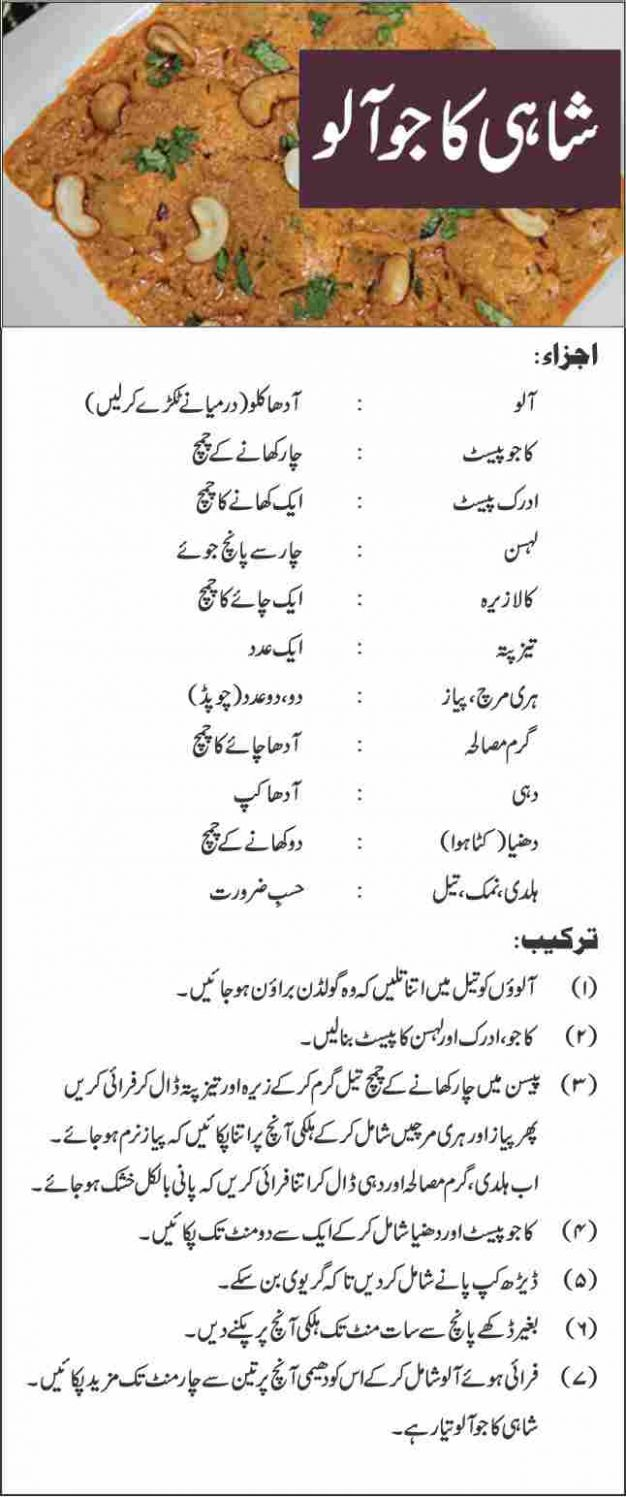 Pakistani Food Recipes in Urdu Download PDF - Recipes Urdu Pakistani