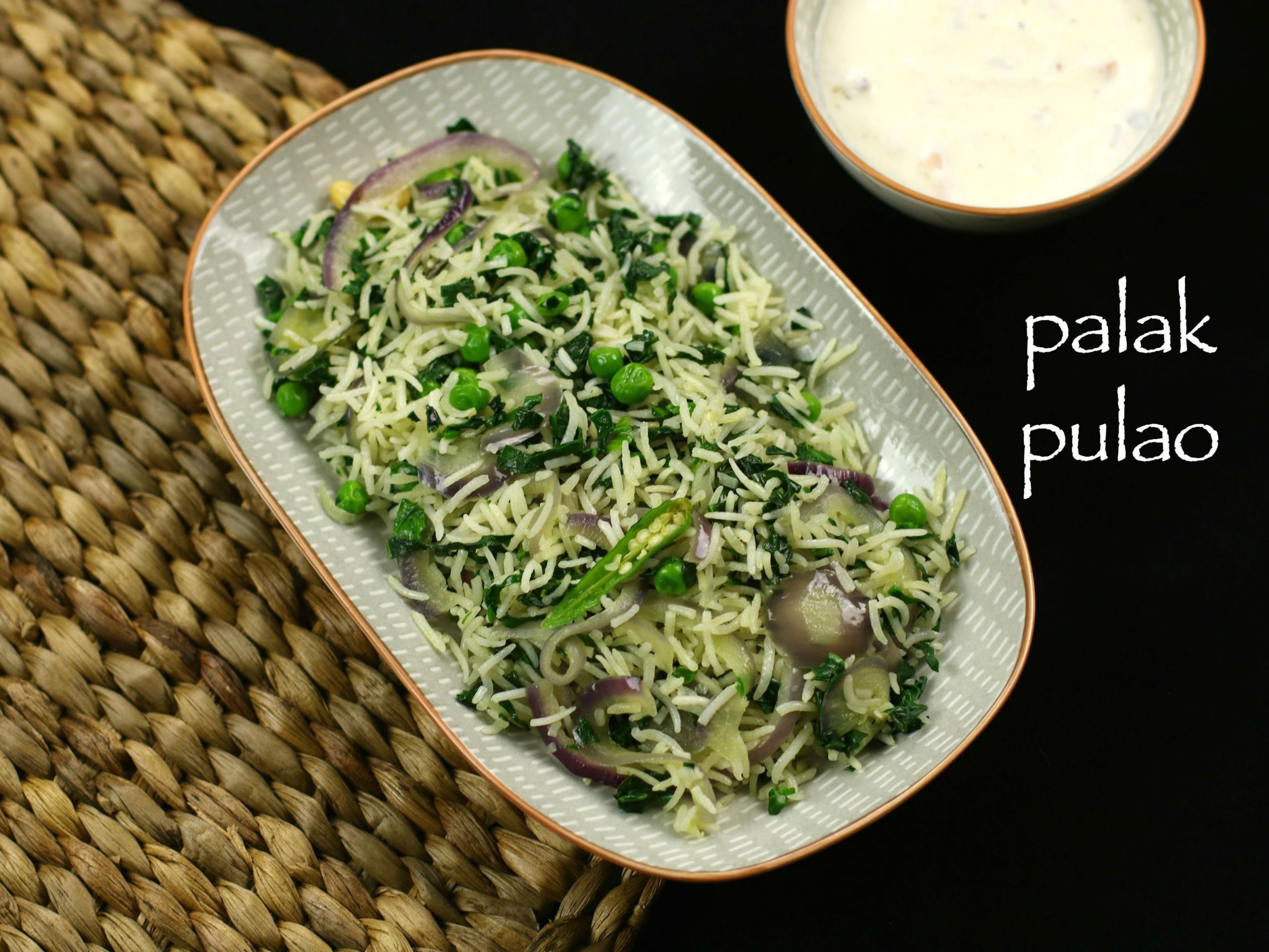 palak pulao recipe | spinach pulao recipe | spinach rice recipe ..