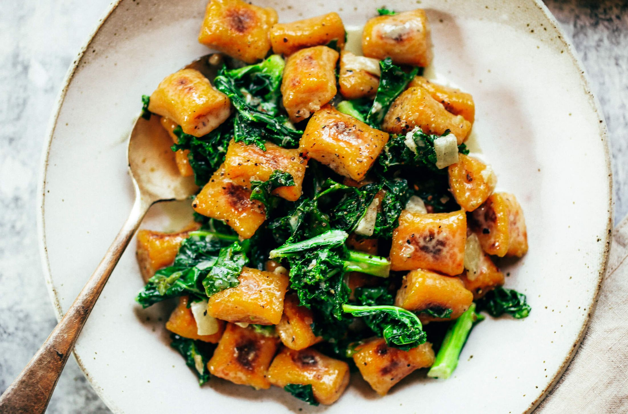 Paleo Sweet Potato Gnocchi With Kale - Recipes Using Potato Gnocchi