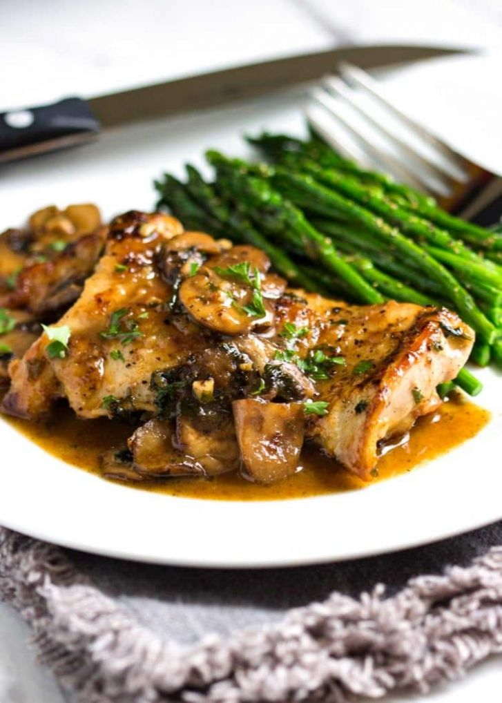 Pan Seared Chicken with Mushrooms