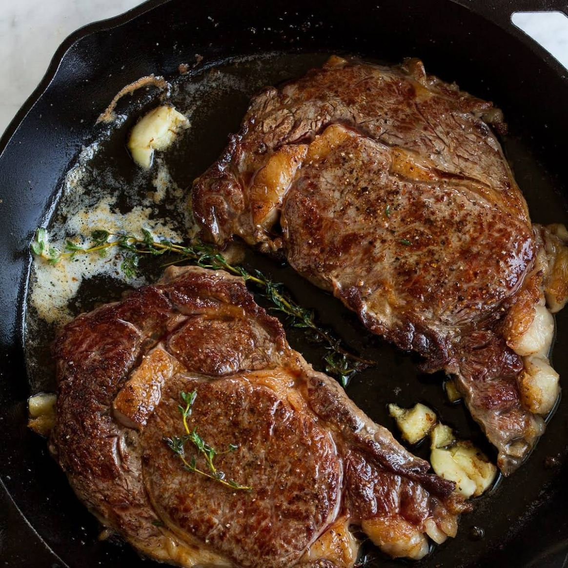 Pan Seared Steak with Garlic Butter Sauce - Recipes With Beef Strips