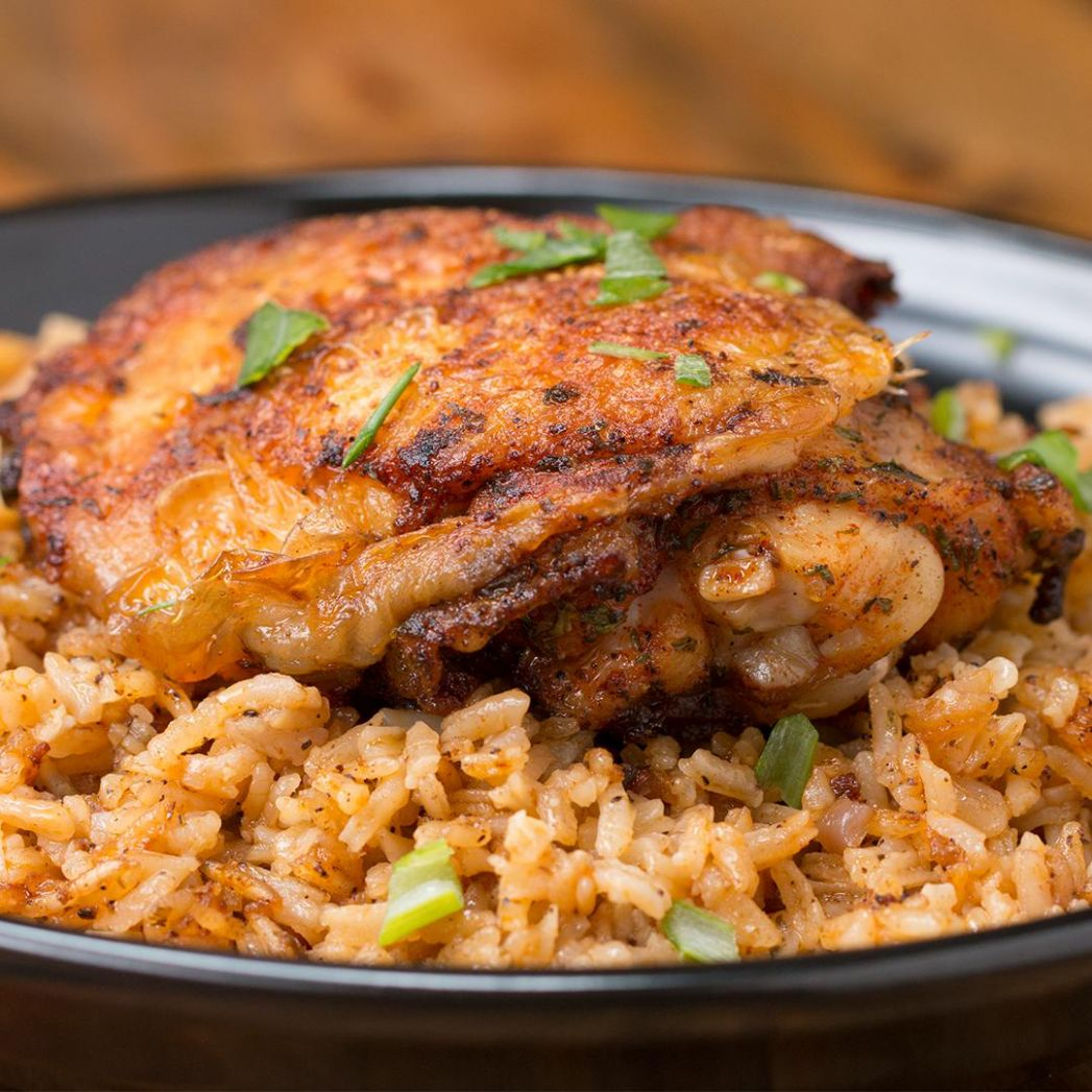 Paprika Chicken & Rice Bake Recipe by Tasty - Recipes Rice Chicken