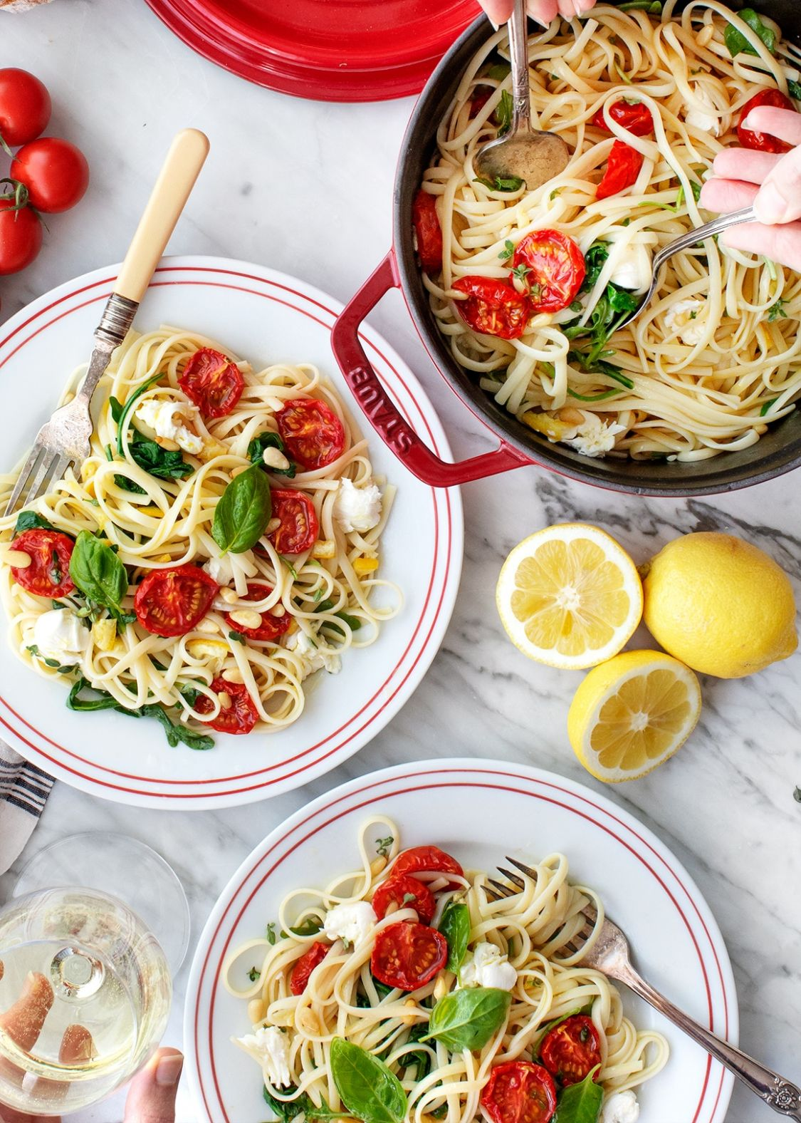 Pasta Recipes: Linguine with Lemon - Recipes Of Pasta Dishes