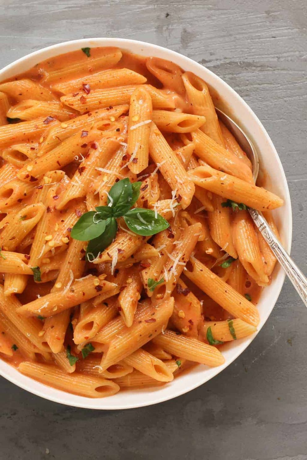 Pasta with Creamy Tomato Sauce - Recipes Pasta Sauce
