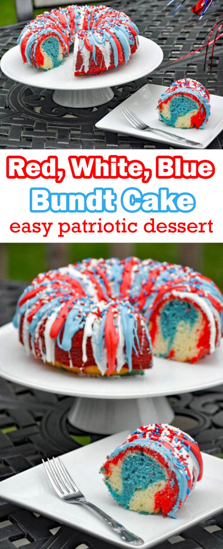 Patriotic Desserts- Red White and Blue Cake - Mommy's Fabulous Finds