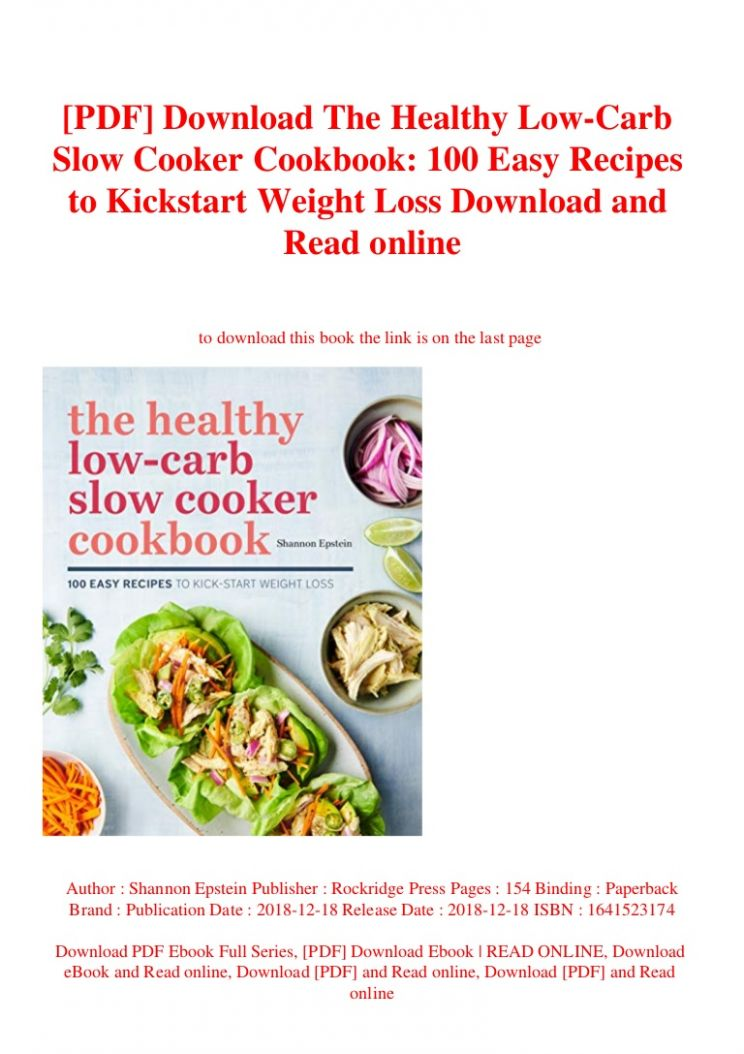 PDF] Download The Healthy Low-Carb Slow Cooker Cookbook 11 Easy Rec…