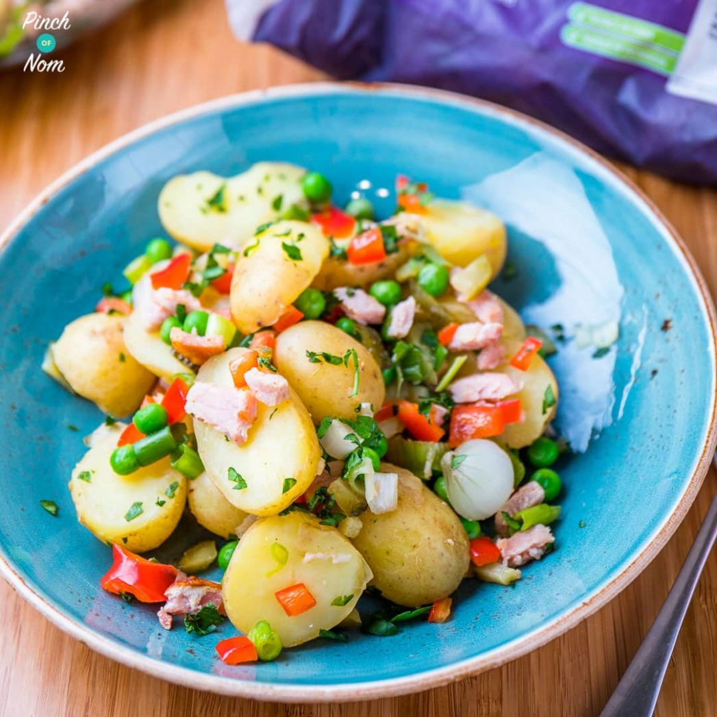 Pea, Pickle and Bacon Potato Salad | Slimming & Weight Watchers Friendly - Salad Recipes Slimming World