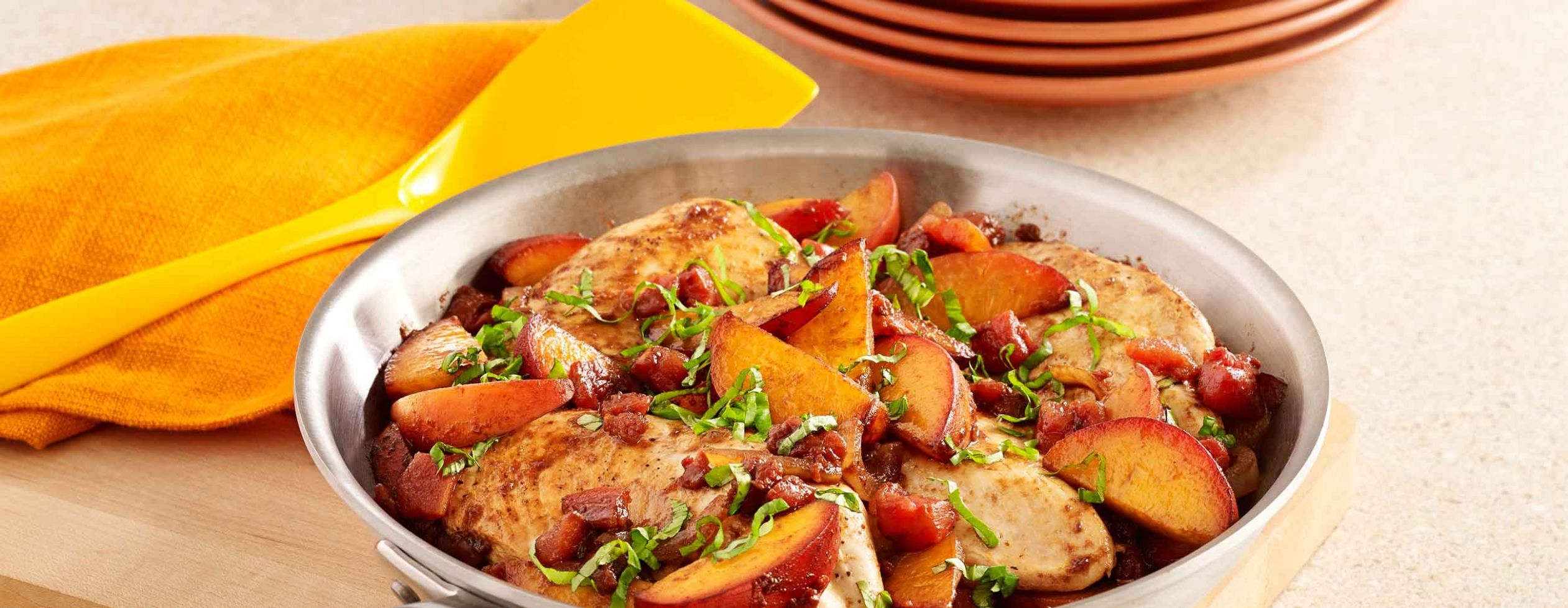 Peach Balsamic Chicken Skillet - Recipes Chicken With Peaches