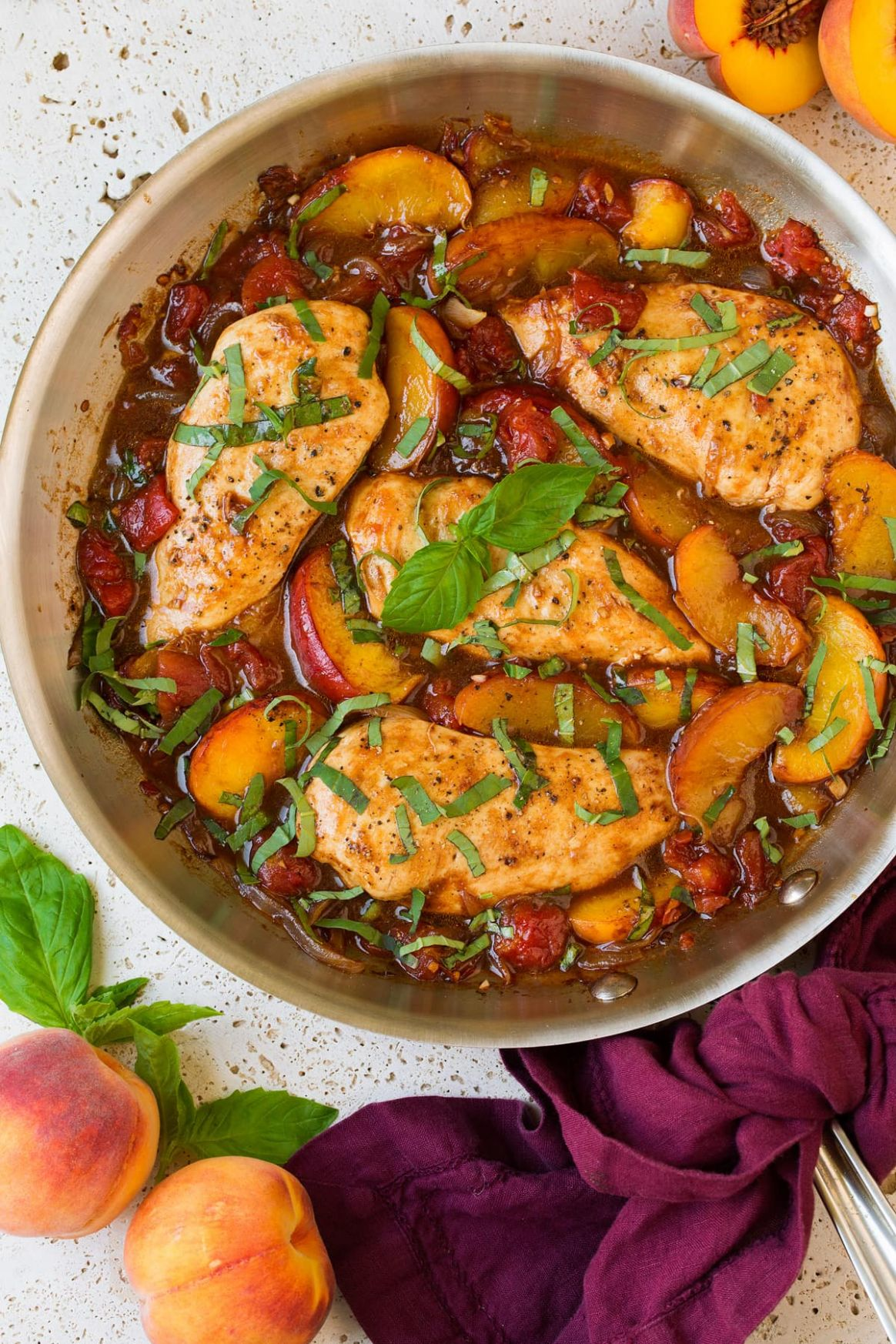 Peach Chicken with Balsamic - Recipes Chicken With Peaches
