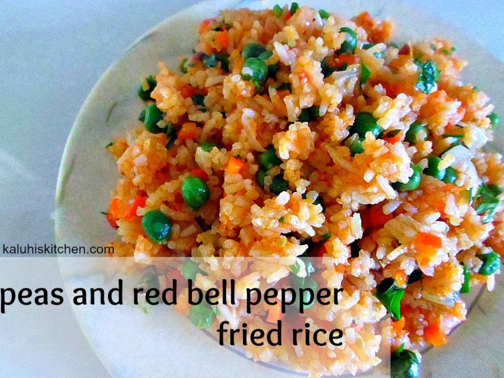 Peas and Red Bell Pepper Fried Rice