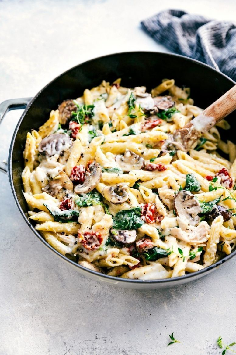 Penne Pasta with a Parmesan Cream Sauce | Chelsea's Messy Apron