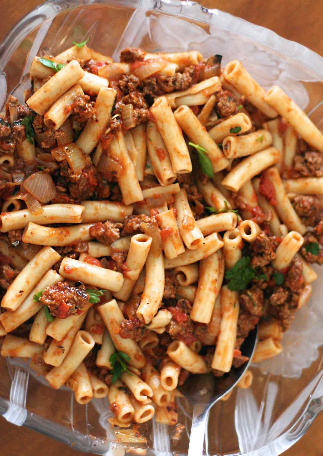 Penne Pasta with Meat Sauce