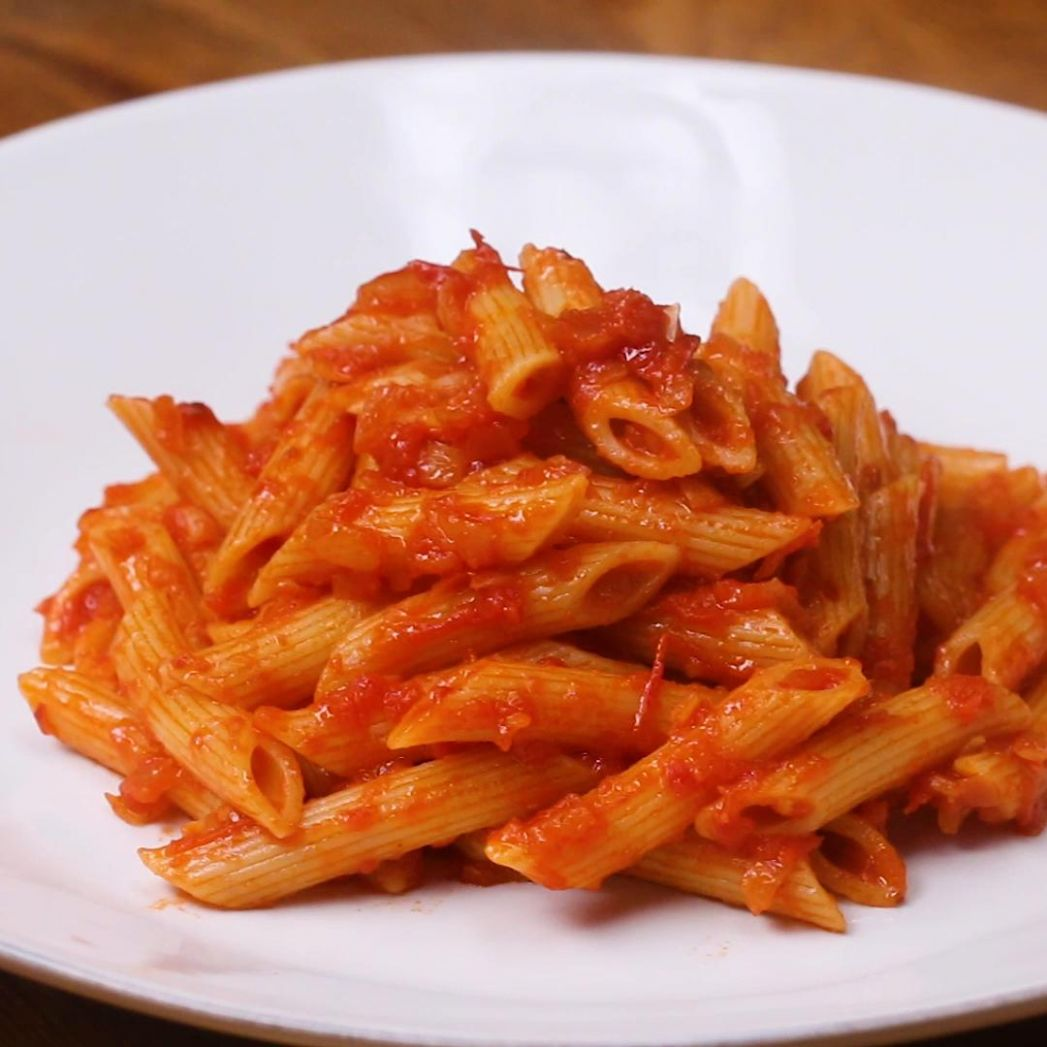 Penne With Tomato Sauce Pasta Recipe by Tasty - Pasta Recipes Red Sauce Veg
