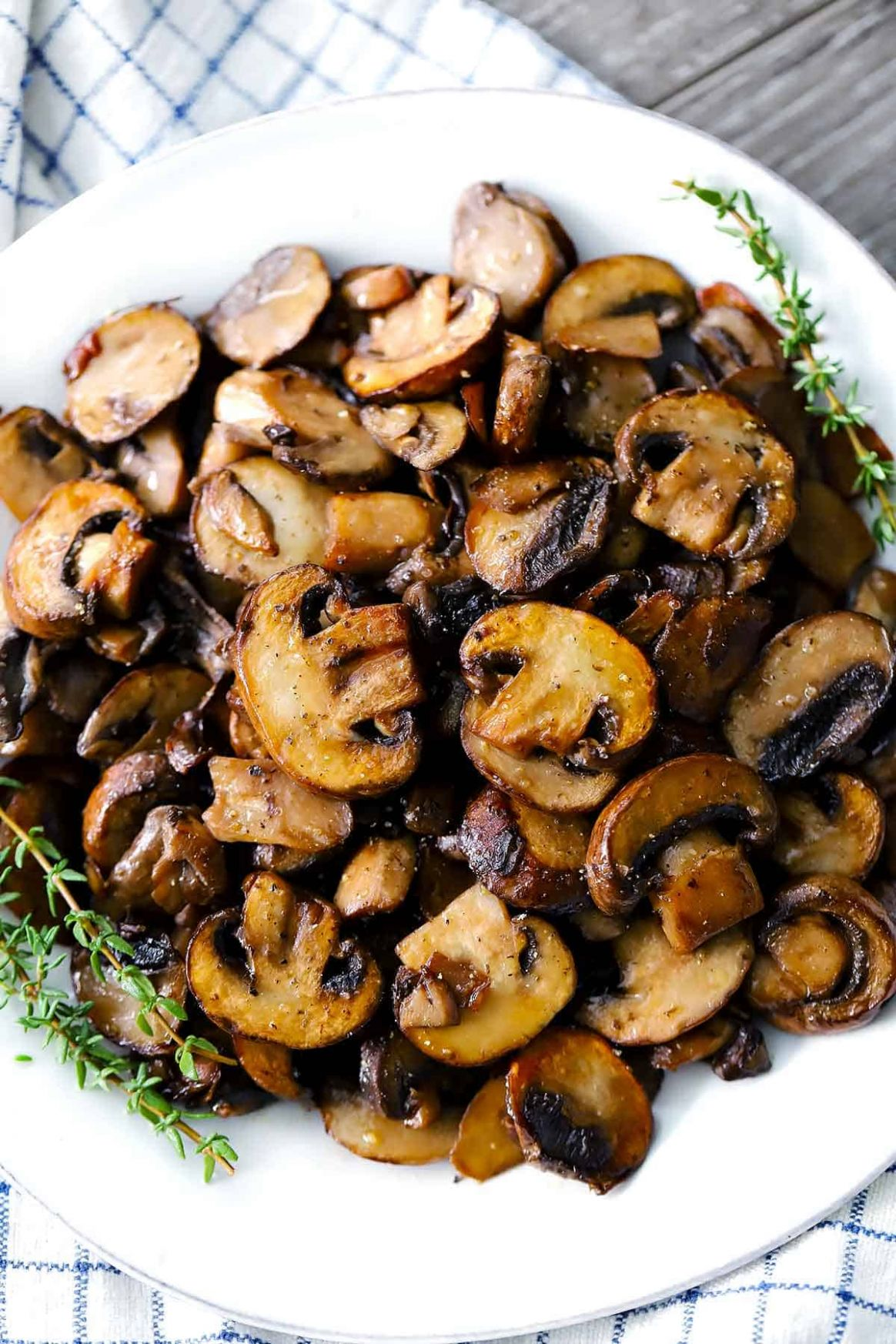 Perfectly Browned Sautéed Mushrooms - Recipes Cooking Mushrooms