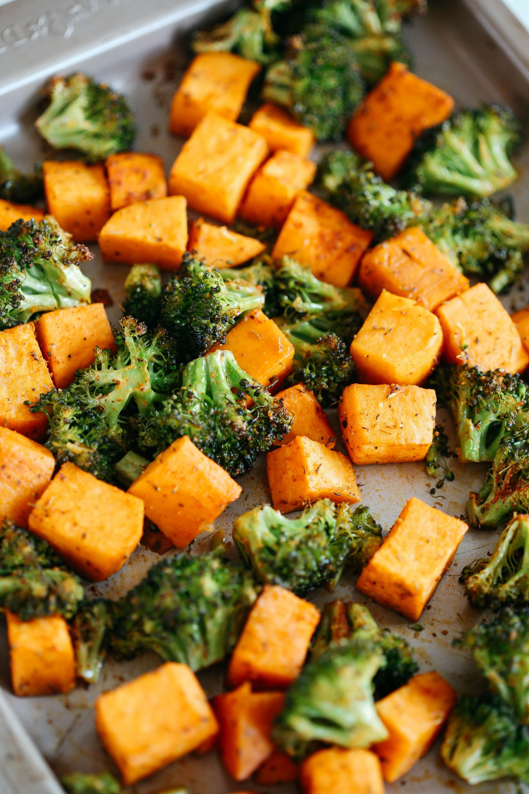 Perfectly Roasted Broccoli & Sweet Potatoes - Recipes Vegetable Sides