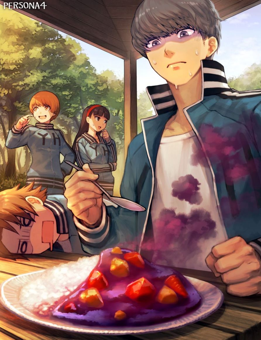 Persona 11 introduces the foul Mystery Food X!! // Art by ..