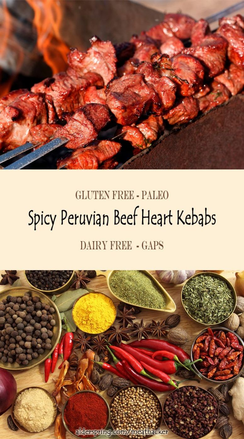 Peruvian Kebabs with Beef Heart